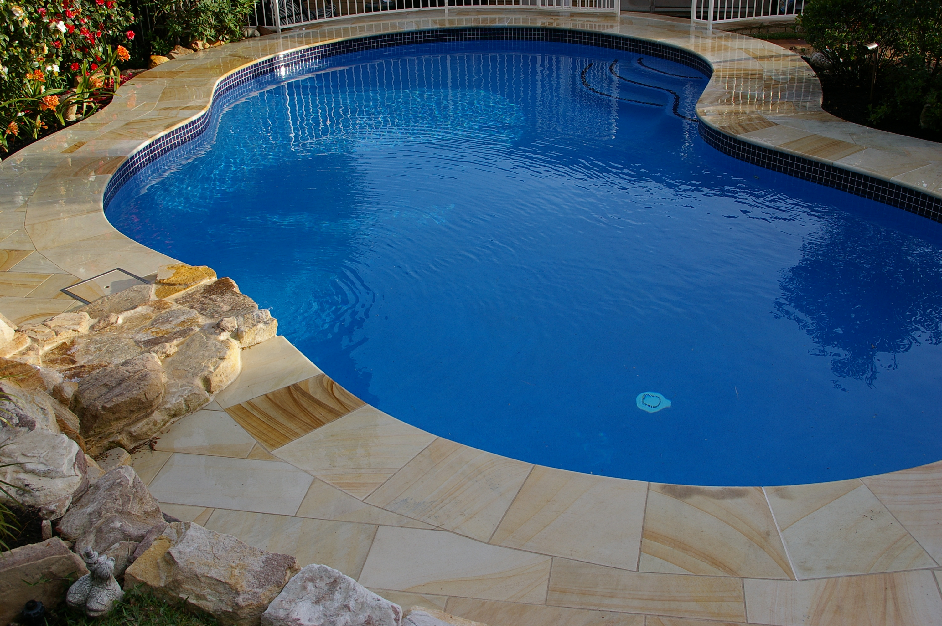 Sandstone pool deck